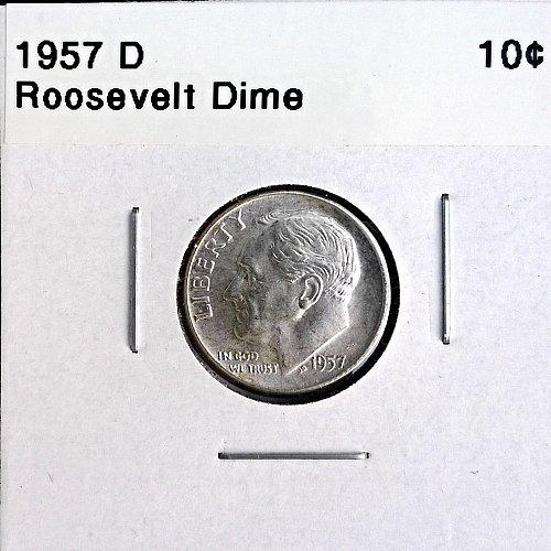 1957 D Roosevelt Dime