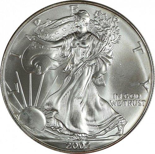 2002 Silver American Eagle, (Item 429)