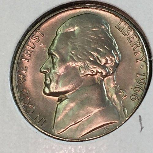 1966-P Jefferson Nickel (41422)