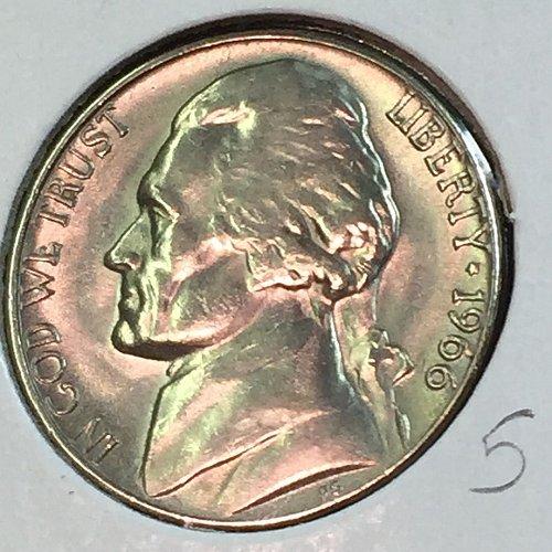1966-P Jefferson Nickel (41428)
