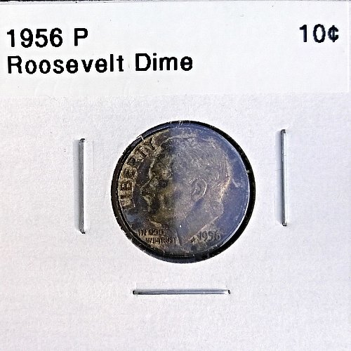 1956 P Roosevelt Dime - 4 Photos!
