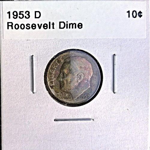 1953 D Roosevelt Dime