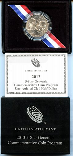 2013-D 5-Star Generals Commemorative Clad Half Dollar Uncirculated