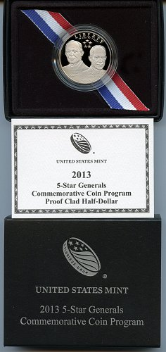 2013-S 5-Star Generals Commemorative Clad Half Dollar Proof