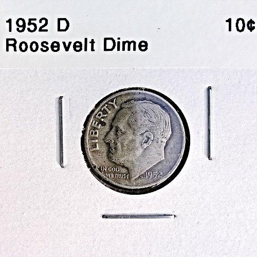 1952 D Roosevelt Dime