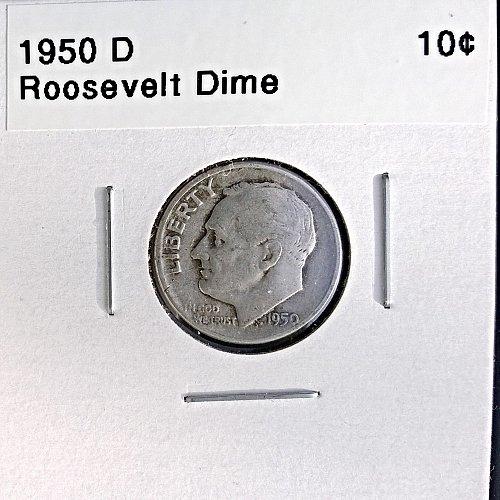 1950 D Roosevelt Dime