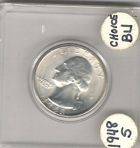 1948-S Choice BU. Washington Quarter