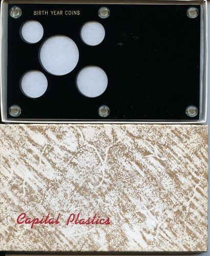 "Capital Plastics ""Birth Year Coins"" 5-Coin Holder, Black"