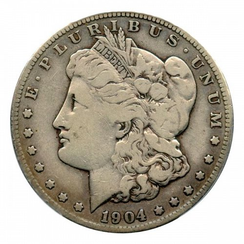 1904 S Morgan Silver Dollar - F / Fine