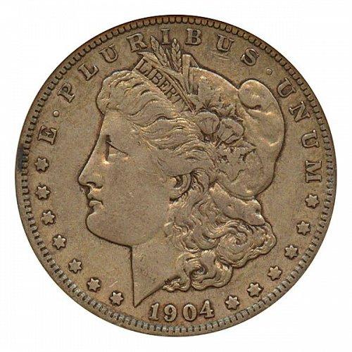1904 S Morgan Silver Dollar - XF / Extra Fine
