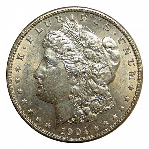 1904 Morgan Silver Dollar - BU / MS / Unc