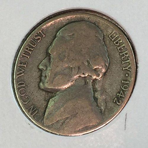 1942-S Jefferson Wartime Nickel (41548)
