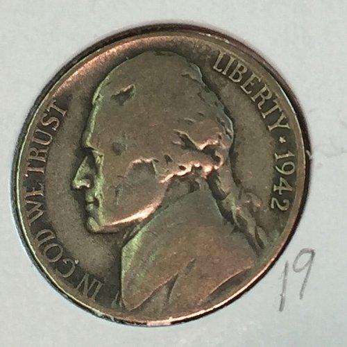 1942-S Jefferson Wartime Nickel (41583)
