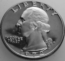1972 S  PROOF  WASHINGTON QUARTER