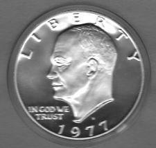 1977  S  PROOF  EISENHOWER  DOLLAR