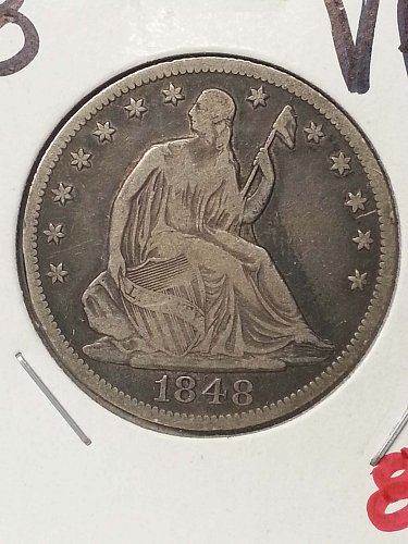 1848-O Seated Liberty Half Dollar