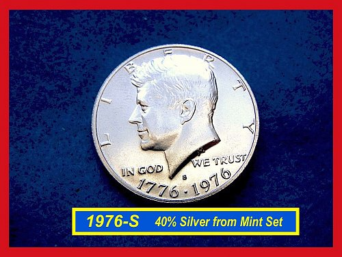 1976-S SILVER  Kennedy Half  Uncirculated      (#1642)