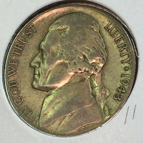 1943-P Jefferson Wartime Nickel (41625)