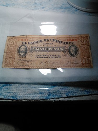 1915 MEXICO LARGE 20 PESO NOTE