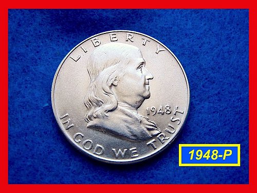 "1948-P Franklin Half – 1st YEAR of FRANKLIN SERIES  • ""AU"" • (#1657)"