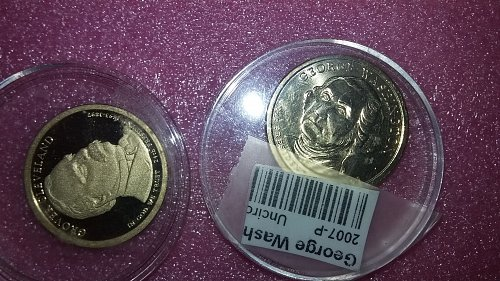2 beautiful presidential Dollar's uncirculated & proof