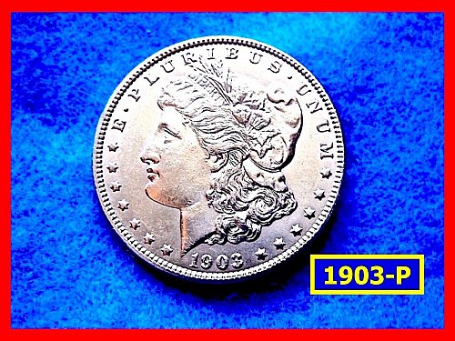 "1903-P MORGAN DOLLAR • • •   ""AU-55/58""  (#5315)"