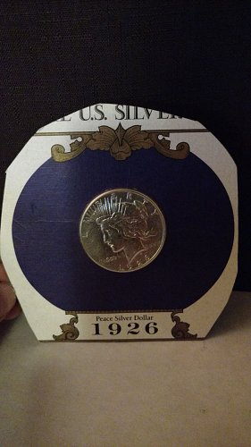 1926 Peace Silver Dollar $1 in original shrink wrapped package