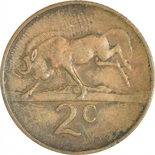 South Africa, 2 Cents, 1966,  (Item 489)