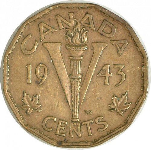 Canada, 5 Cents, 1943, (Item 488)