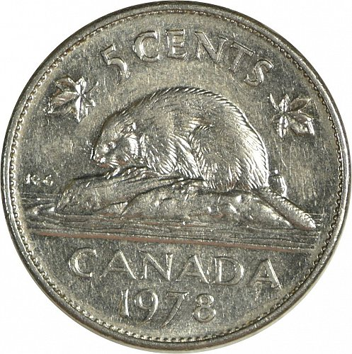 Canada, 5 Cents, 1978, (Item 487)