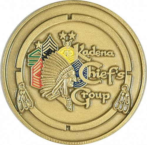 Challenge Coin, Kadena Chiefs Group, Okinawa Japan,  (Item 414)