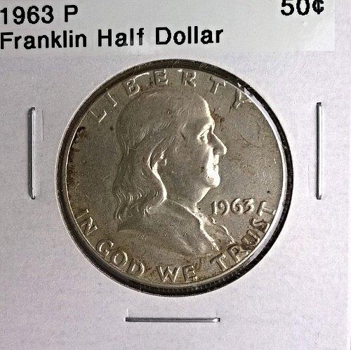 1963 P Franklin Half Dollar - 6 Photos!
