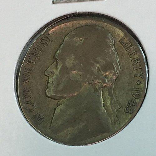 1943-S Jefferson Wartime Nickel (10476)