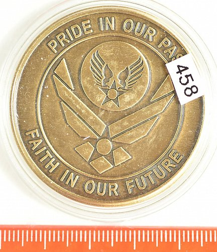 Challenge Coin, U.S. Air Force Memorial Ground Breaking,  2004, (Item 458)