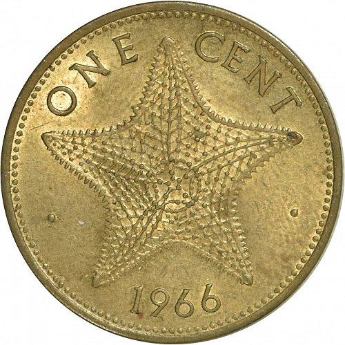 Bahama Islands, 1 Cent, 1966,  (Item 485)