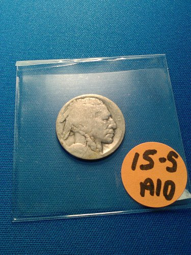 1915-S BUFFALO NICKEL - RESTORED DATE