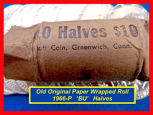 "1966 JFK Roll  ORIGINAL PAPER ROLL by ""Abbot Coin, Greenwich, Conn.•(#1655)"