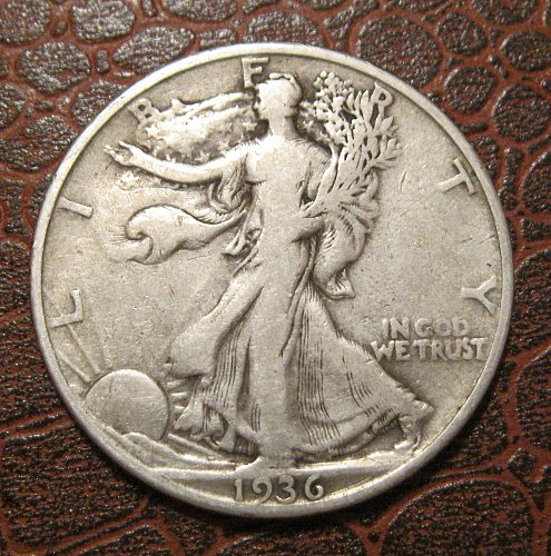 1936 D Walking Liberty Half Dollar,