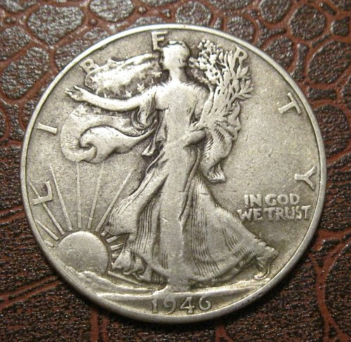 1946 P Walking Liberty Half Dollar,
