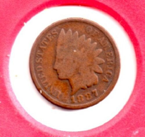 1887 p Indian Head Penny - #4