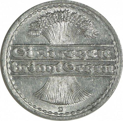 Germany (Deutches Reich), 50 Pfennig, 1920,   (Item 481)
