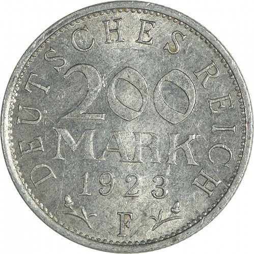 Germany (Deutches Reich), 200 Mark, 1923 F,  (Item 480)