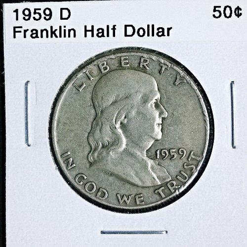 1959 D Franklin Half Dollar