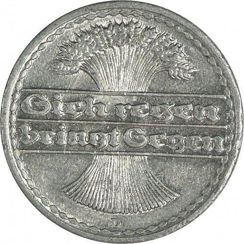 Germany (Deutches Reich), 50 Pfennig, 1921, D,  (Item 476)