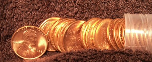1945 Lincoln Cent Roll Unc ( 50 coins) Stock # Glr45