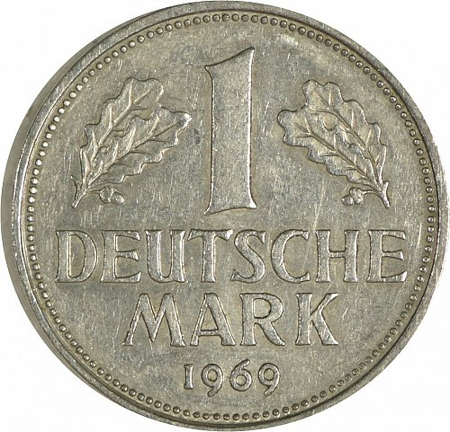 Germany (Bundesrepublik), 1 DM, 1969,  (Item 473)