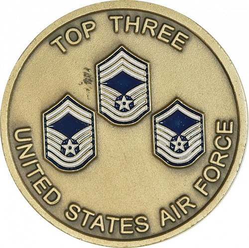 Challenge Coin, U.S. Air Force Top Three, (Item 443)