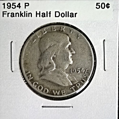 1954 P Franklin Half Dollar