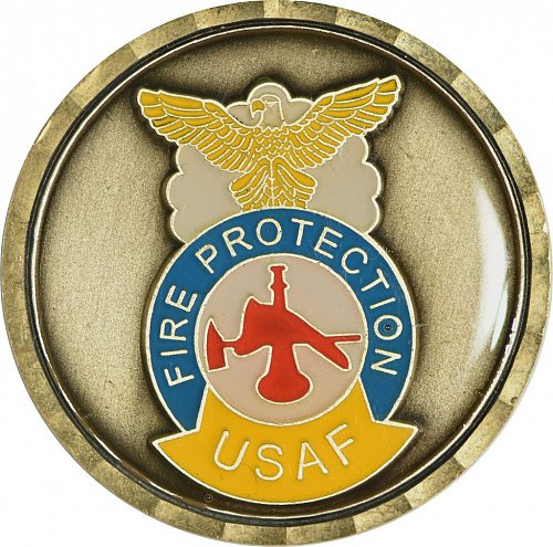 Challenge Coin, USAF Fire Protection, (Item 440)