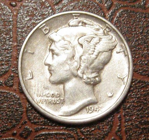 1941 MERCURY DIME, WINGED LIBERTY